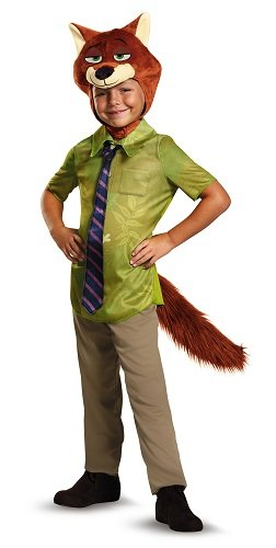 Wild Halloween Costumes (Nick Wilde Classic Zootopia Disney Costume, X-Small/3T-4T)