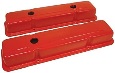 Ecklers Premier Quality Products 50310154 Chevy Small Block Valve Covers OEM Style Orange