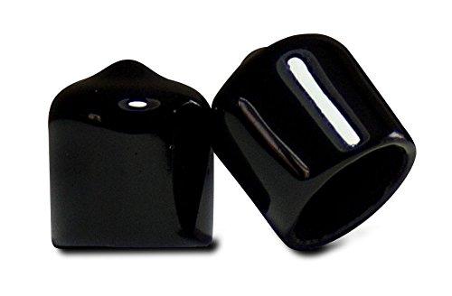 Prescott Plastics 10 Pack: 1/2 Inch Round Black Vinyl Pipe End Cap Cover Rubber Flexible Tube Caps Tubing Marine Safety Tip, .5'