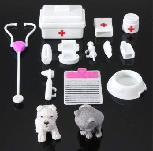 Agordo 14Pcs Set Mini Medical Equipment Doll Toys for Dolls Bear Dollhouse Miniatures A from Agordo