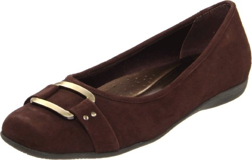 Sizzle Suded Brown Flat Trotters Ballet Women's Dark Signature PwqA5aq