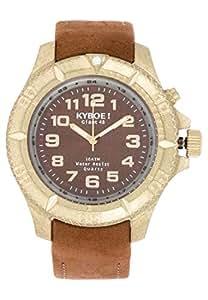 Kyboe Stainless Steel RAW Series Unisex Brown Dial Leather Watch-KV-001, Brown