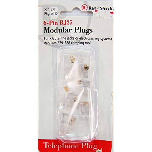 RadioShack 6-Pin Non-Keyed Quick-Connect Plug - Radio Plugs Shack