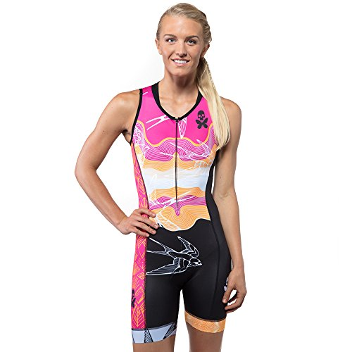 Betty Designs Trisuit | Breathable Compressive Support with Lightweight and Moisture-Wicking Fabric | UPF 50+ Protection | (S, - Trisuits Womens