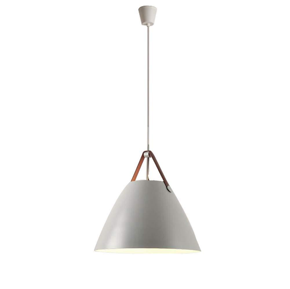 CMDDYY Moderner minimalistischer Kronleuchter-skandinavisch modern, kreativ, Einstellbarer, schmiedeeiserner Kronleuchter, Wohnzimmer Esszimmer-Deckenlampe Schlafzimmer rund Einkopfleuchter,grau