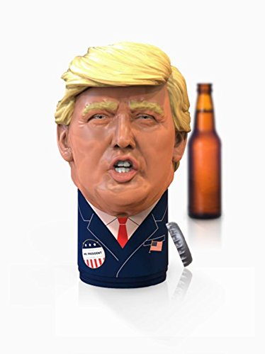 Trump Gag Gift for Men Talking Bottle Opener 24 Different Sayings, Just Click and Listen, Funny Gifts for Trump and Hillary Fans ()