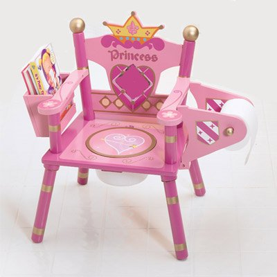 Amazon.com : Princess Throne Toilet Potty Training Seat Queen Chair Pink :  Baby
