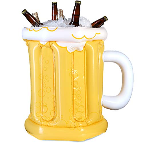 Juvale Inflatable Beer Mug Cooler for Parties, 23 x 19 Inches