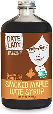 Organic Smoked Maple Date Syrup - Paleo, Vegan, Kosher - 2 Ingredients: Organic Dates, Applewood Smoked Maple