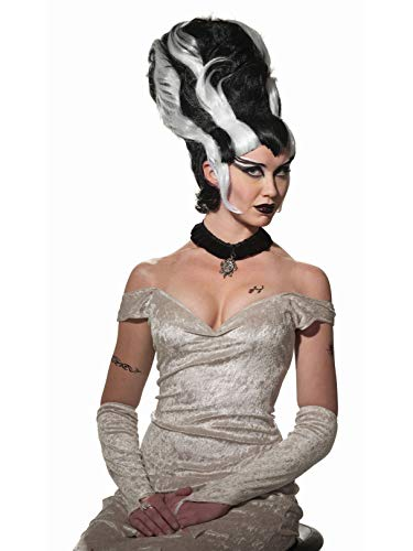 Forum Women's Monster Bride Wig, Black/White, One Size]()