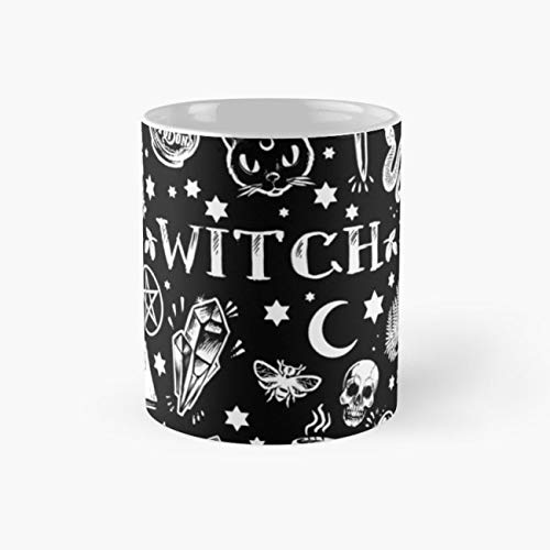 Halloween Brujas Wicca Pagan 11 Oz Coffee Mugs Ceramic Novelty Holiday Mother. Best Gifts for Men and Women Who Love Cups