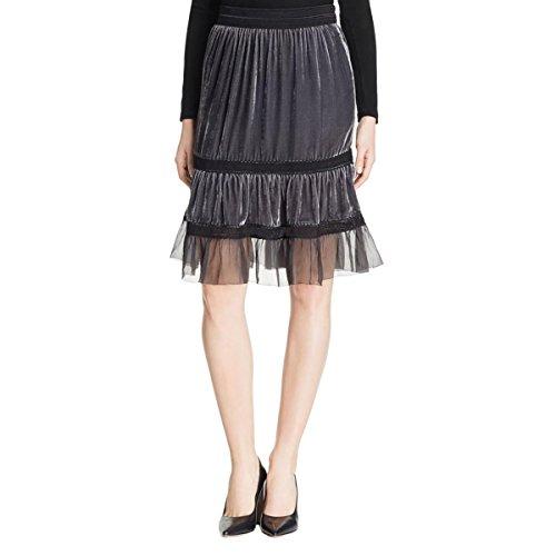 Elie Tahari Women's Audra Skirt, Coal, Medium