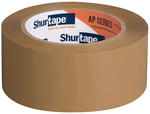 Shurtape AP 180 Production Grade Acrylic Film Packaging Tape, 100m Length x 48mm Width, Tan (Pack of ()
