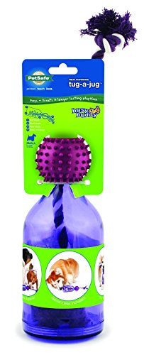 PetSafe Busy Buddy Tug-A-Jug Meal-Dispensing Dog Toy Use with Kibble or (Premier Tug)