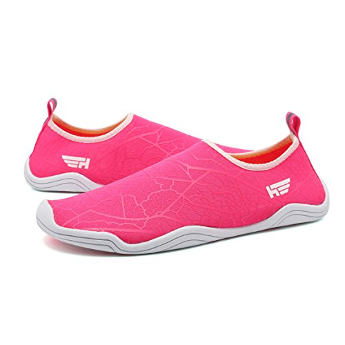 Fanture Aqua Men For Quick Sports Red Swim With 18 Drainage Rose Walking Holes Wading Yoga Drainage Shoes Dry Womens Beach Water rrq1A