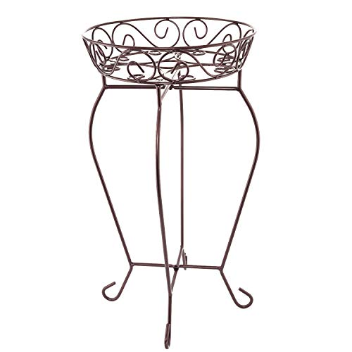 QILICHZ Heavy Duty Handcrafted scrolled Iron Metal Storage Basket Rack for Fruit,Vegetables,Kitchen Home Household or Plant Stand Shelf