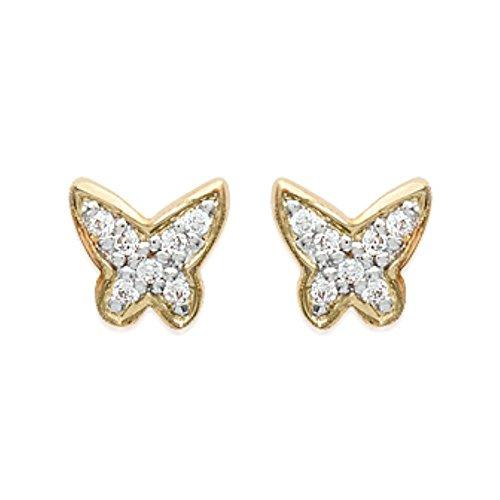 ISADY - Rita Gold - Boucles d'oreille - Plaqué or jaune 18K - Clous d'oreille - Oxyde de zirconium