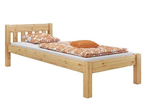 Erst-Holz 60.38-09 Einzelbett mit Rollrost - 90x200 - Massivholz Natur