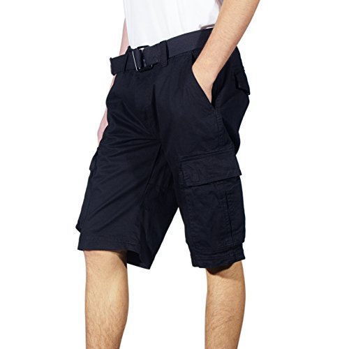 Cargo Shorts Loose Solid Twill
