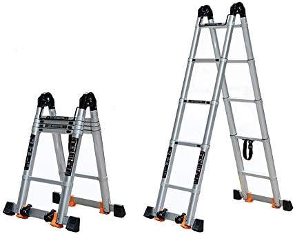 Escalera de la aleación de aluminio, escalera multiusos de la escalera de la ingeniería de la escalera plegable del hogar de la escalera telescópica portátil (Size : 2.15m+2.15m): Amazon.es: Bricolaje y herramientas