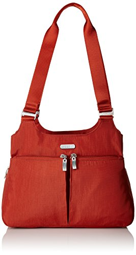 Baggallini Satchel Bag – Lightweight Roomy Purse with Zippered Interior and Exterior Pockets and Removable RFID Wristlet