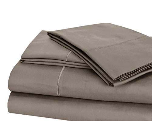 CHATEAU HOME COLLECTION Luxury 100% Pima Cotton 500 Thread Count Ultra Soft Solid Sheet Set, Lowest Prices - Mega Sale, Queen - Charcoal
