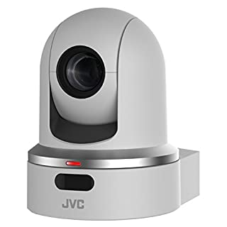 JVC KY-PZ100 2.13MP Robotic PTZ Network Video Production Camera, 30x Optical Zoom, 1080p, H.264, PoE+, White