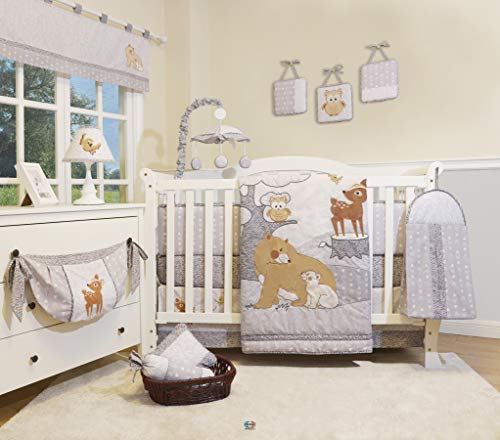 Enchanted Forest Crib Bedding - GEENNY 13 Pieces Enchanted Forest Woodland Baby Nursery Crib Bedding Set