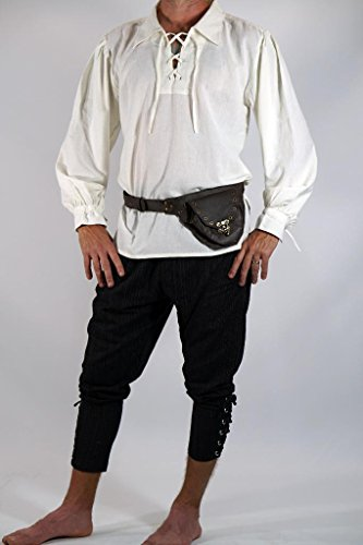 Bbalizko Mens Medieval Retro Cosplay Costume Lace Up Stand Collar Shirt Tops by Bbalizko (Image #3)
