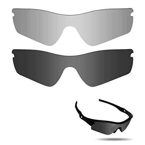 Fiskr Anti-saltwater Polarized Replacement Lenses for Oakley Radar Path Sunglasses 2 Pairs - Lenses Oakley Radar