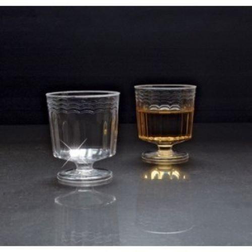 1 Piece 2 oz Pedestal Plastic Wine Glasses - Case of 240 (Glasses Pedestal Beer)