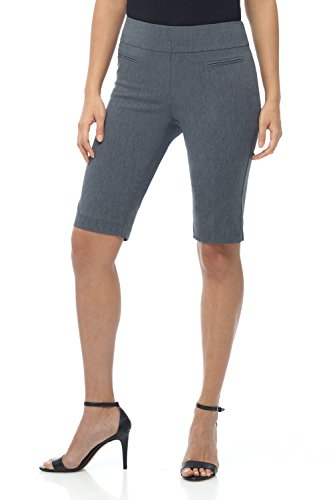 - Rekucci Women's Ease in to Comfort Fit Pull-On Modern City Shorts (18,Charcoal)
