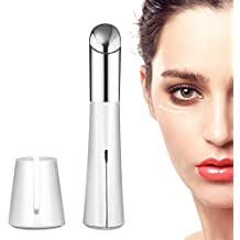 Heated Sonic Vibration Eye Massager, Moreslan Rechargeable 40℃ Facial Massager Roller Wand Pen with High Frequency Vibration Relieving Dark Circles Fatigue and Puffiness Two Modes USB Rechargeable