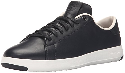 Cole Haan Women's GrandPro Tennis Leather Lace OX Fashion Sneaker, Black/Optic White, 7.5 B ()