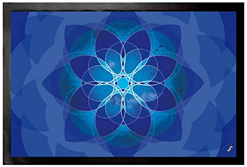 1art1 Mandalas Door Mat Floor Mat - Meditation And Inner Peace (24 x 16 inches) by 1art1