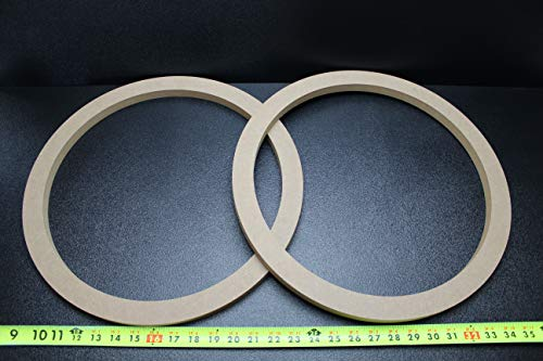 2 MDF Speaker Ring Spacer 15 INCH Wood 3/4 Thick Fiberglass Box Enclosure Port