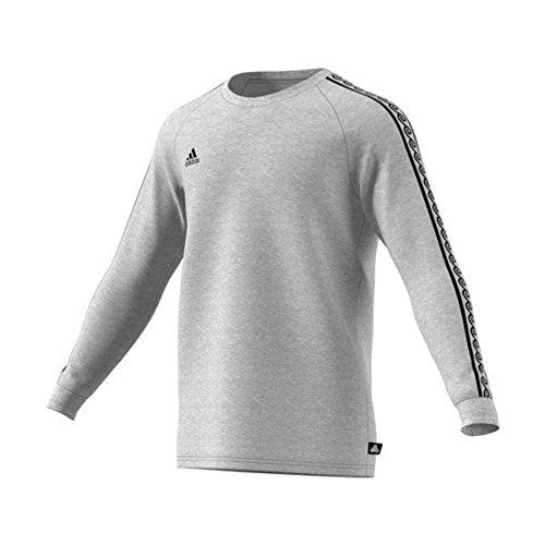 (adidas Men's Soccer Long Sleeve Tango Etrusco Tee (Small, Medium Grey Heather))