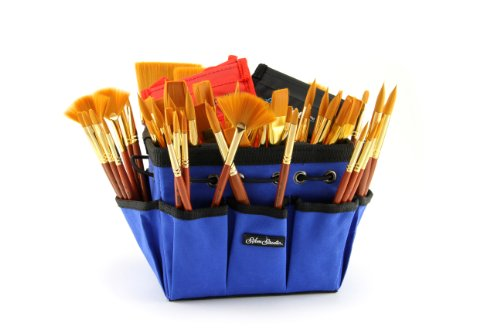Silver Brush CP-6092S Sterling Studio Short handle Class Pack Open Stock Assortment with Blue Petite Tote, 91 Per Pack ()