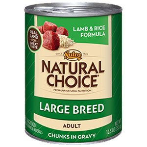NUTRO 791436 12-Pack Natural Choice Large Breed Lamb/Rice Canned Food for Dogs, 12.5-Ounce, My Pet Supplies
