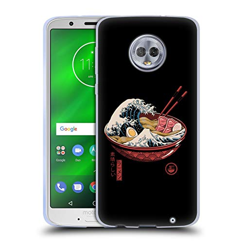 Official Vincent Trinidad Ramen Waves Radical Graphics Soft Gel Case Compatible for Motorola Moto G6 Plus