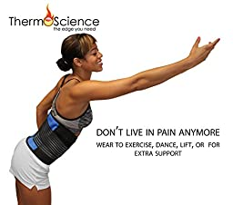 Back Support Belt - Lower Back Pain Support Brace - Relief Belt for Men and Women - Fits Up to 36 Inches - Herniated Disc - Upper or Lower Supporter - Helps with Posture and for Lifting