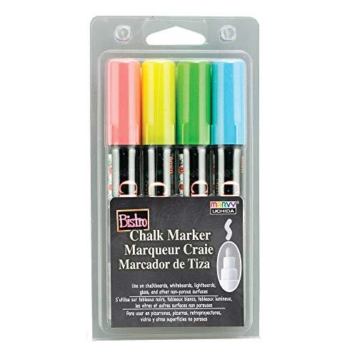 Uchida 480-4A 4-Piece Bistro Chalk Marker Set