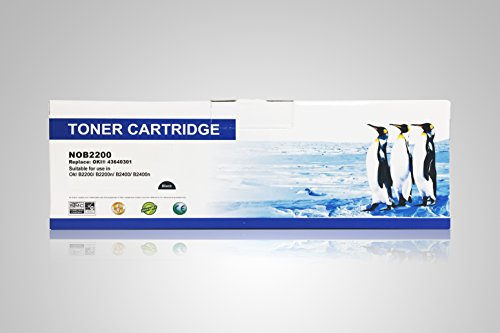 B2400 Laser Printer (Super Supply Compatible Okidata 43640301 Black Toner Cartridges for Okidata B2200 B2200n B2400 B2400n printer)