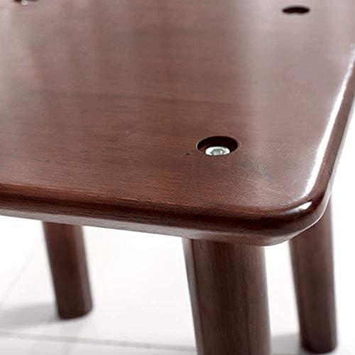 ECSWP Moderner quadratischer Kleiner Schemel des festen Holzes Wohnzimmerschemel-Freizeitschemellandschemeländer-Schuhschemel einfacher Vier Fußschemel