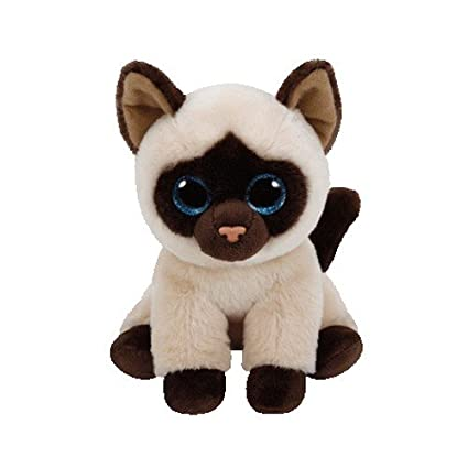 amazon com ty jaden siamese cat plush regular toys games