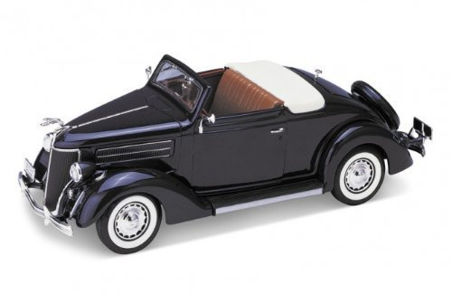1936 Ford Deluxe Cabriolet Blue 1/24 by Welly 22422 by Welly