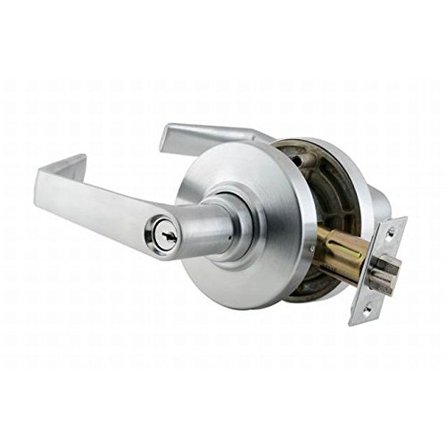 Schlage commercial AL85SAT626 AL Series Grade 2 Cylindrical Lock, Faculty Restroom Function, Saturn Lever Design, Satin Chrome Finish by Schlage Lock Company
