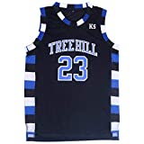 Mens Basketball Jerseys Nathan Scott #23 Ravens Stitched Sports Movie Shirts Black (Medium)