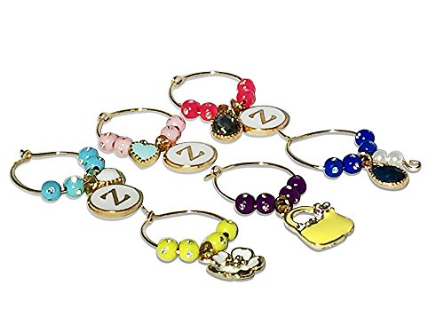 Wine Glass Charms, Adorable Beaded Rings