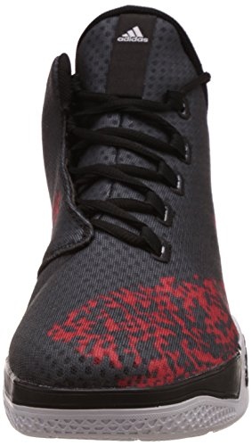 adidas Light Em up 2, Scarpe da Basket Uomo Multicolore (Negro / Blanco / Rojo (Negbas / Ftwbla / Escarl))